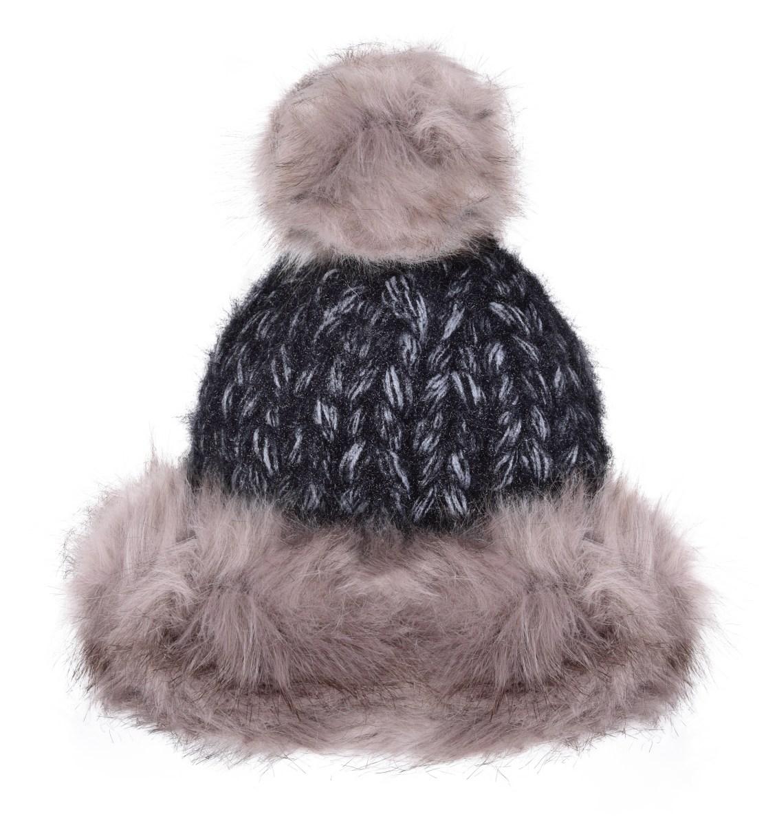13bb1a084 POLARIS pletená čiapka šedo - čierna - DEDRA online