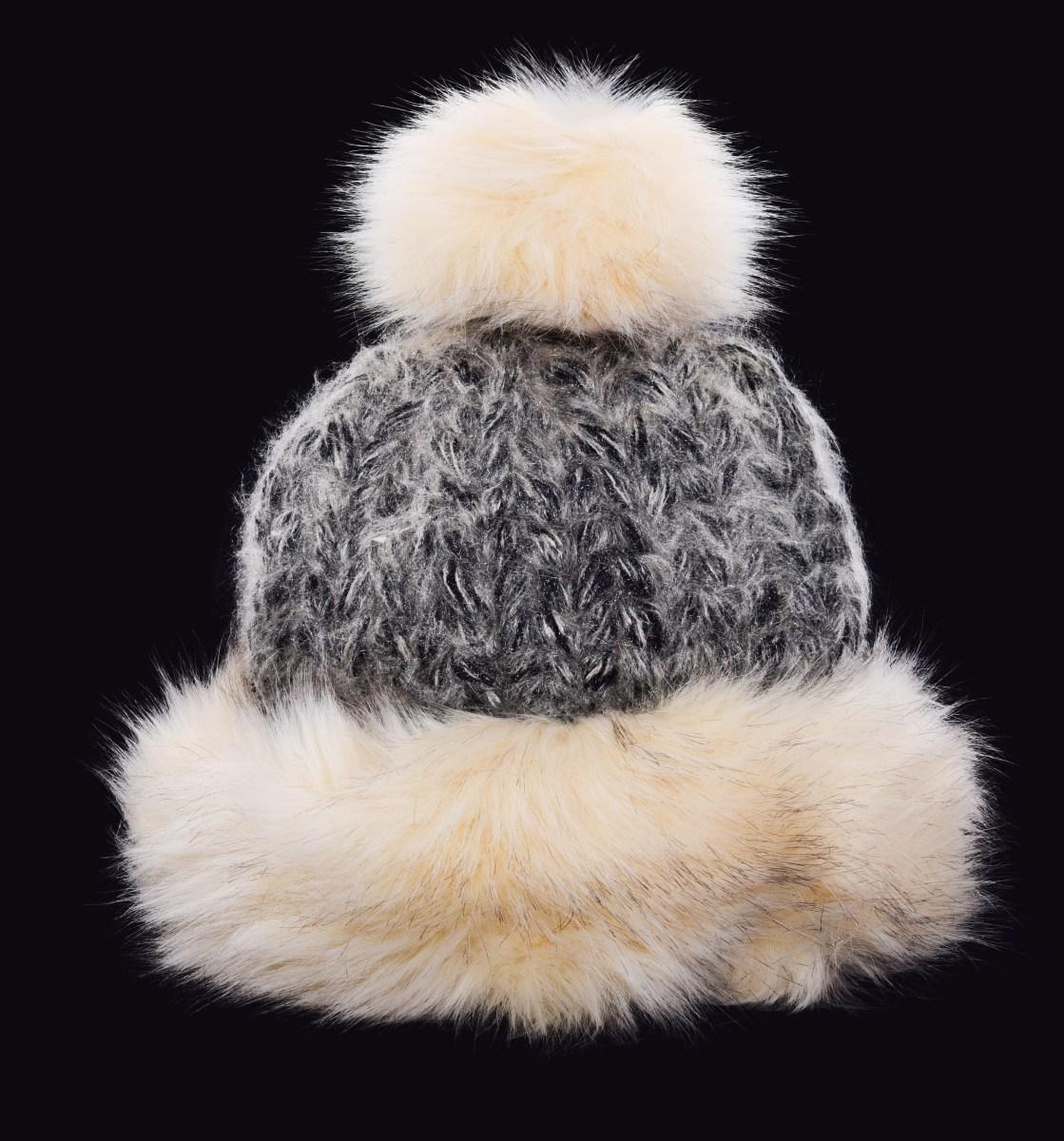 82ec8f25b POLARIS pletená čiapka krémovo - čierna - DEDRA online